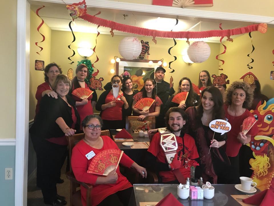 Associates celebrating Chinese New Year