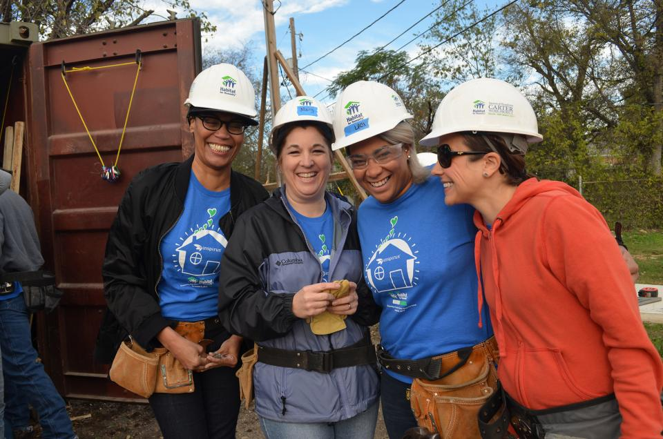 Inspirus finding joy in helping Habitat for Humanity build a home for a well-deserving family.