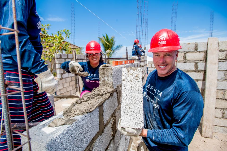 Delta volunteers travel to Mexico for the company's 13th global Habitat for Humanity build.