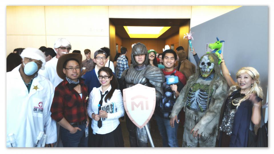 National MI employees participating in building sponsored Halloween event