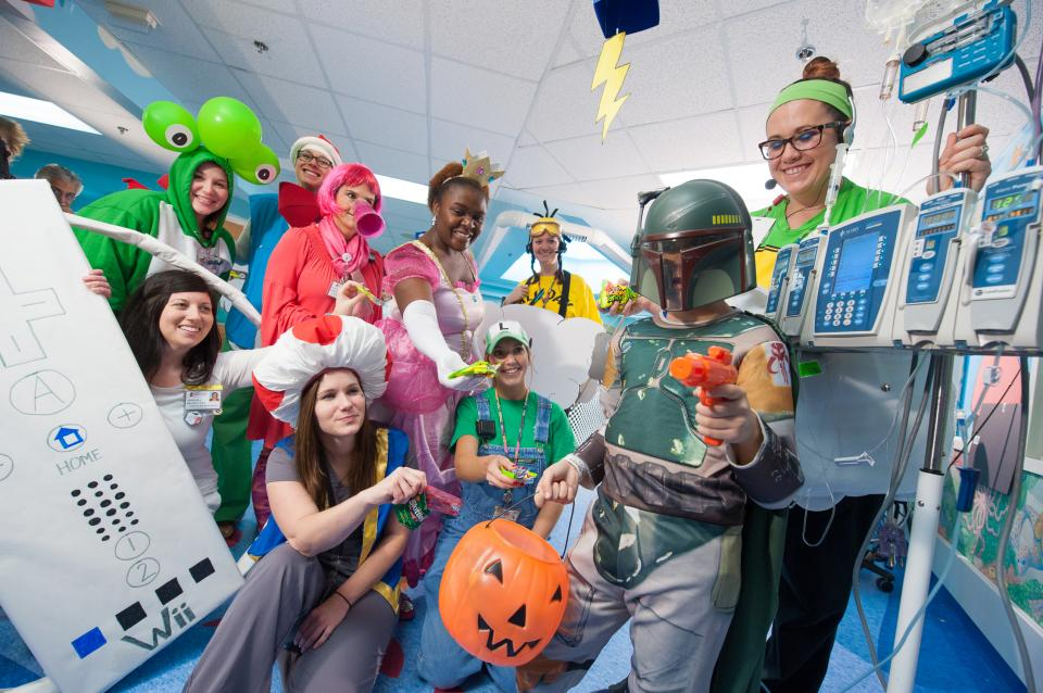 Halloween Trick or Treat at St. Jude is one of our largest events allowing patients and employees to get in on the fun.