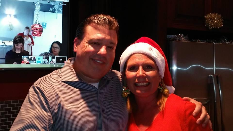 Matt Herron, AnswerFirst CEO and Penny Herron, Director of Smiles at AnswerFirst's Holiday Party