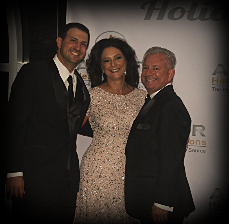Ardor's CEO and President, Mike and Patty Lamia with COO, Mike Romano at the 2015 Holiday Gala
