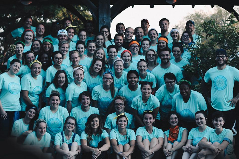 Team photo at the 2016 company retreat