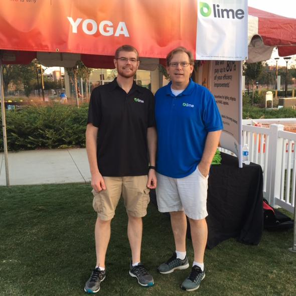 Lime Energy Yoga Booth - AHA Heart Walk