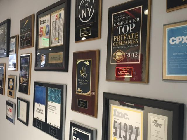 CPXi Awards Wall
