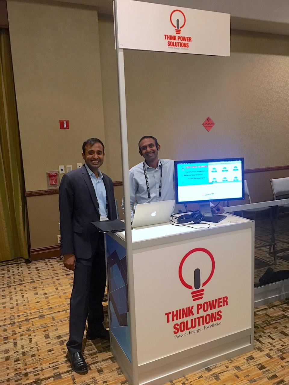 Vinod and Hari at an Esri Mapping Conference