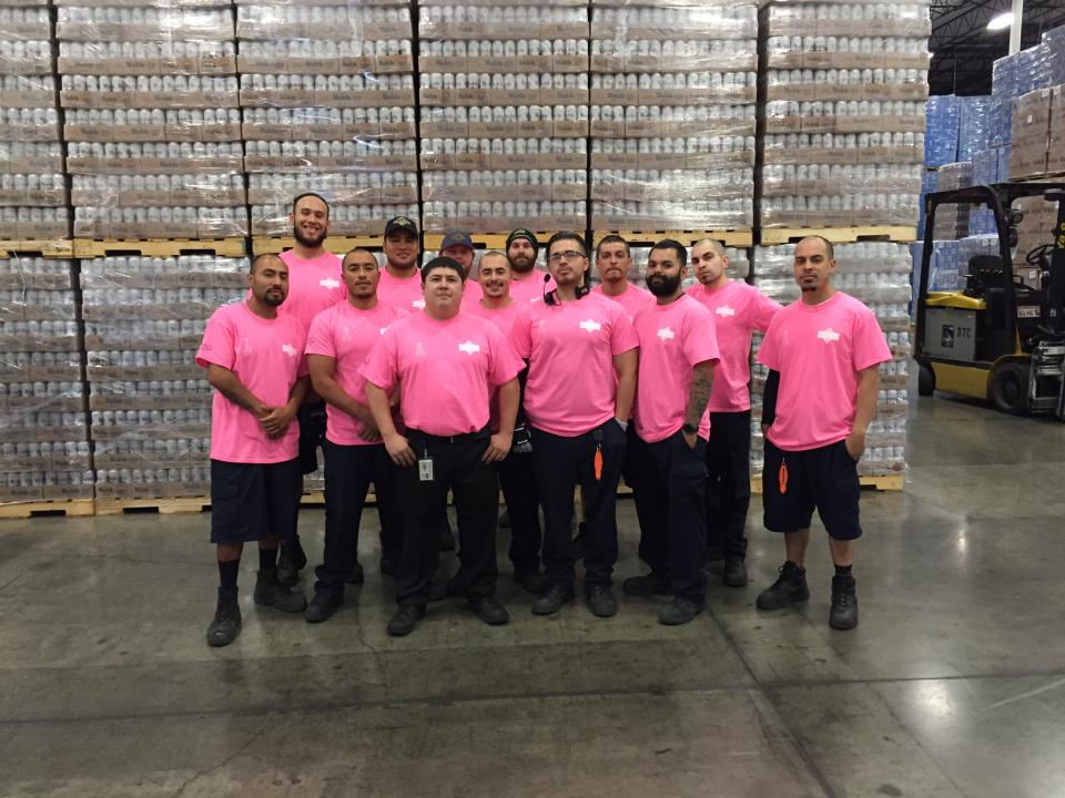Warehouse Dept Supporting Breast Cancer Awareness Month