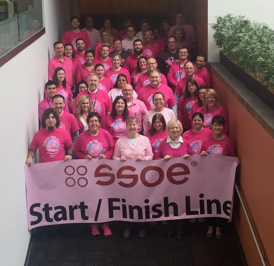 SSOE is a proud sponsor of the American Cancer Society's Making Strides Against Breast Cancer 5K Walk / Run. The office spent the week raising breast cancer awareness and funds for health programs, services, and research.