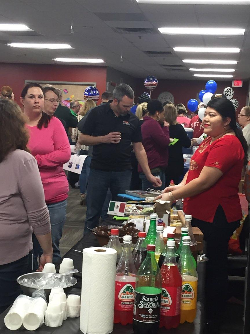 Liberty Hardware employees enjoying the first ever Cultural Fair in Feb 2018