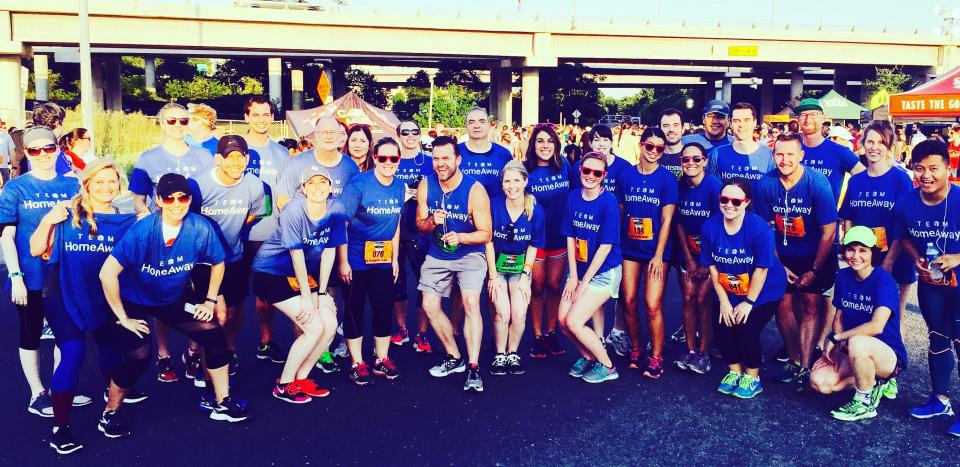 HomeAway Team at the Moonlight Margarita run, benefiting the Austin Trail Foundation