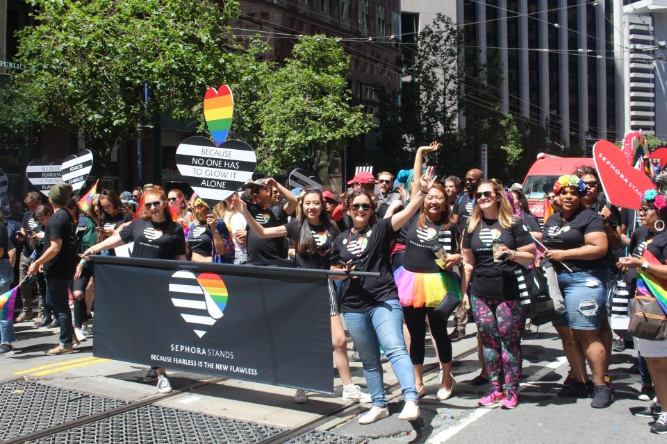 Sephora participates in Pride parades all over the country. In 2018, Sephora will be walking in 15 cities' parades.