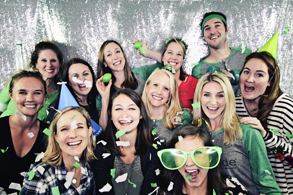 Limeade hosted at 10-year anniversary party this year, with a fun photo booth for teams to celebrate this milestone.