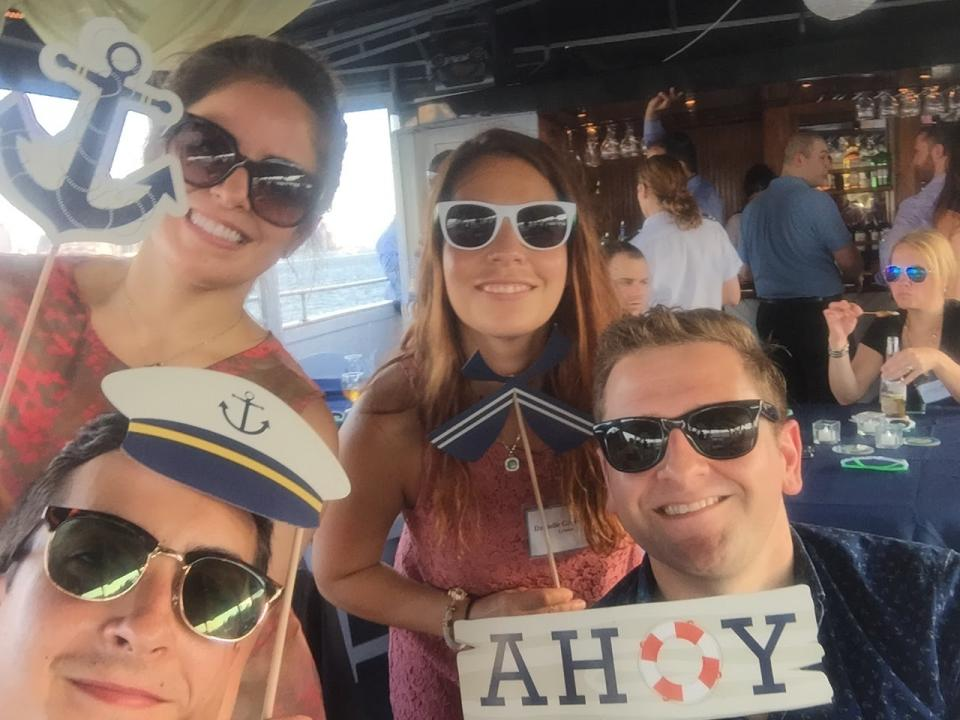 We're on a boat! (We invited all of our clients to a harbor cruise in NYC) - and we had fun along the way!
