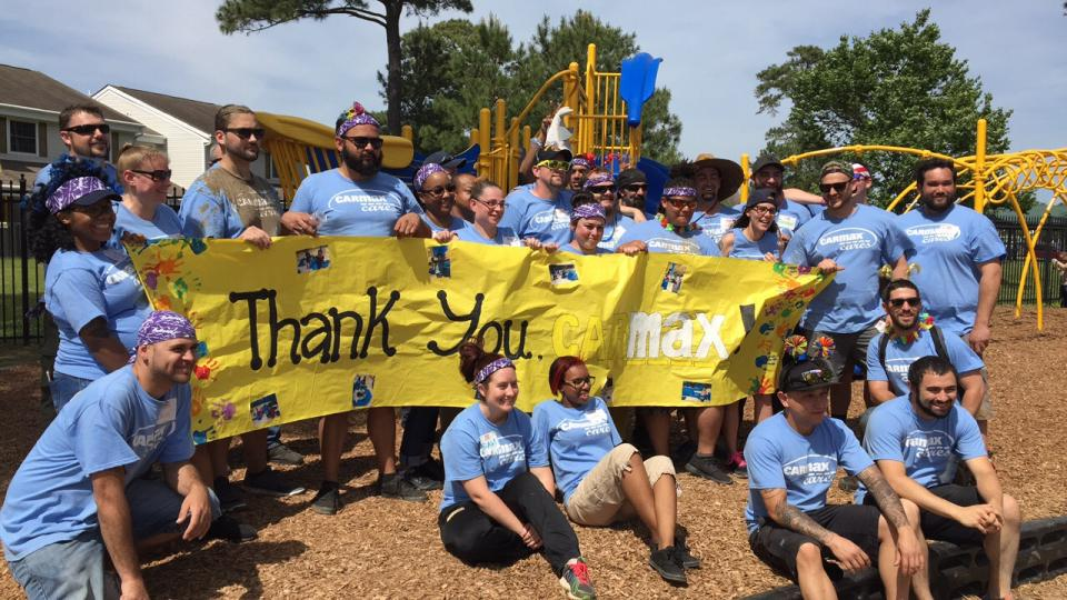 Associates in Norfolk, VA, volunteer with KaBOOM! to create a much-needed playground for the community.