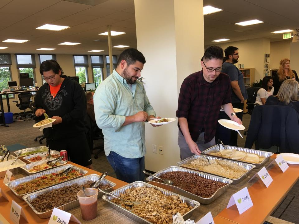 Catered lunches at our all-hands meetings