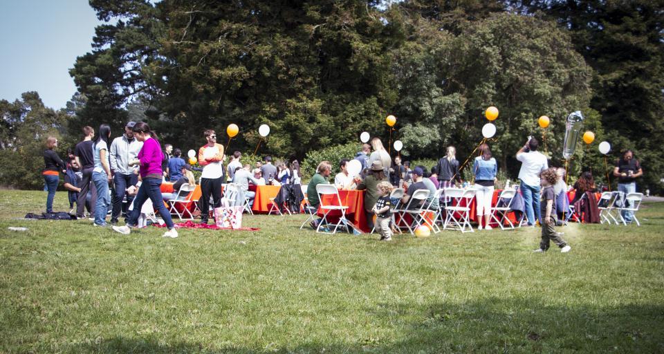 Company summer picnic in San Francisco