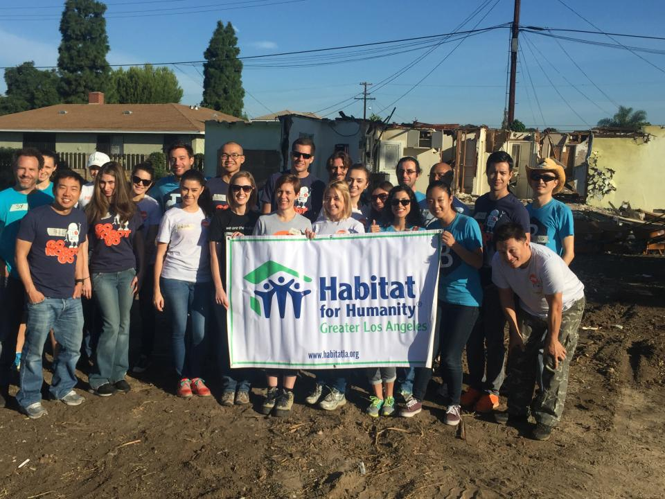 Company Habitat for Humanity Service Project