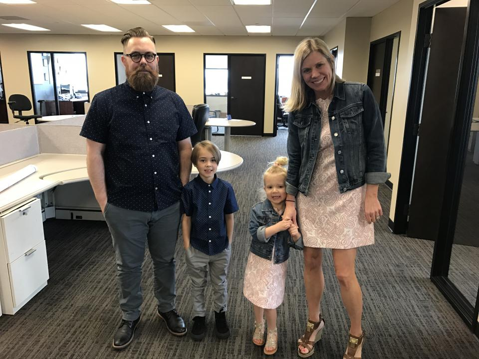 Employees on Bring Your Child to Work Day