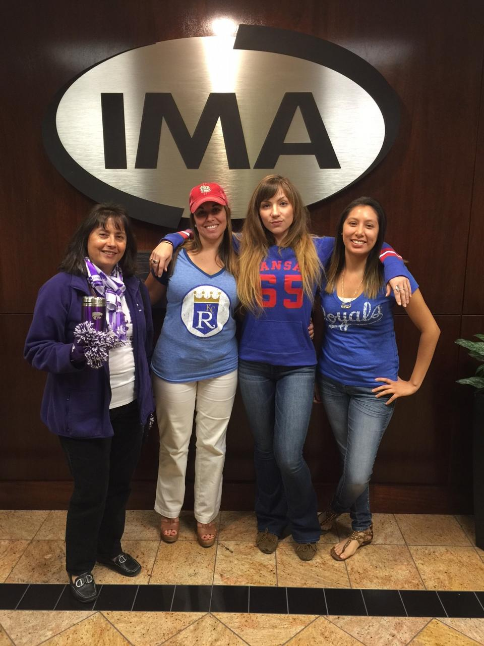 IMA associates are a competitive bunch. The Kansas City office recently competed to see which associate could show the most team spirit.