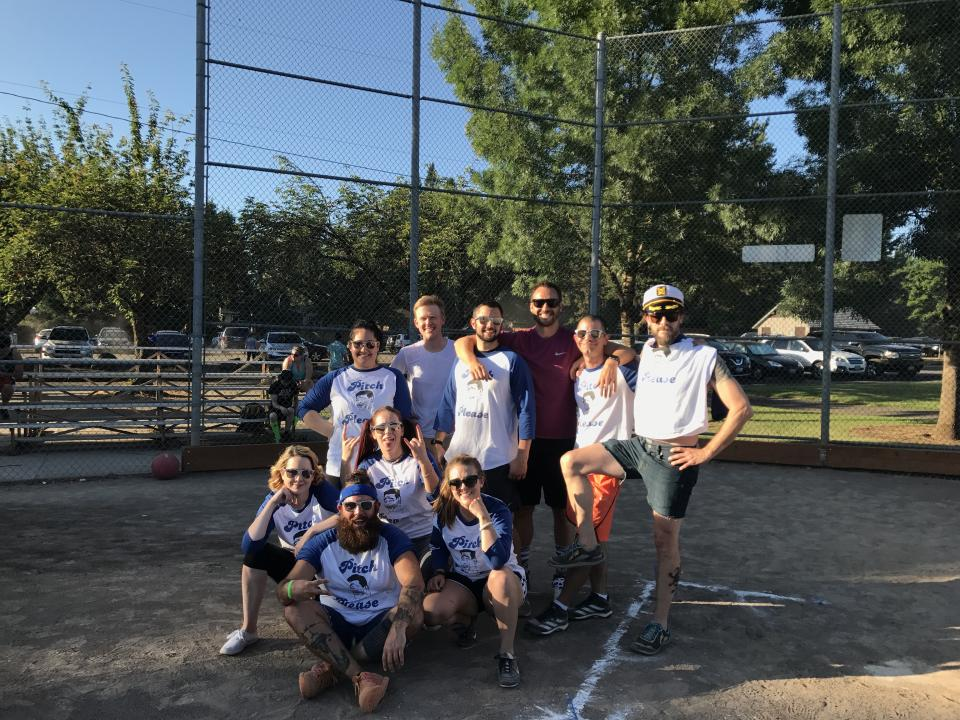 DiscoverOrg Kickball Team