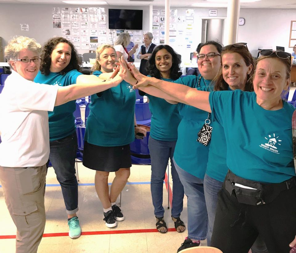 Bright Horizons employees came together to build a Bright Space for refugee and migrant children at the Humanitarian Respite Center in McAllen, Texas.