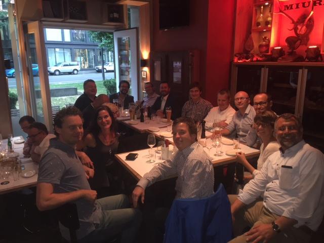 Employees Enjoying Team Dinner