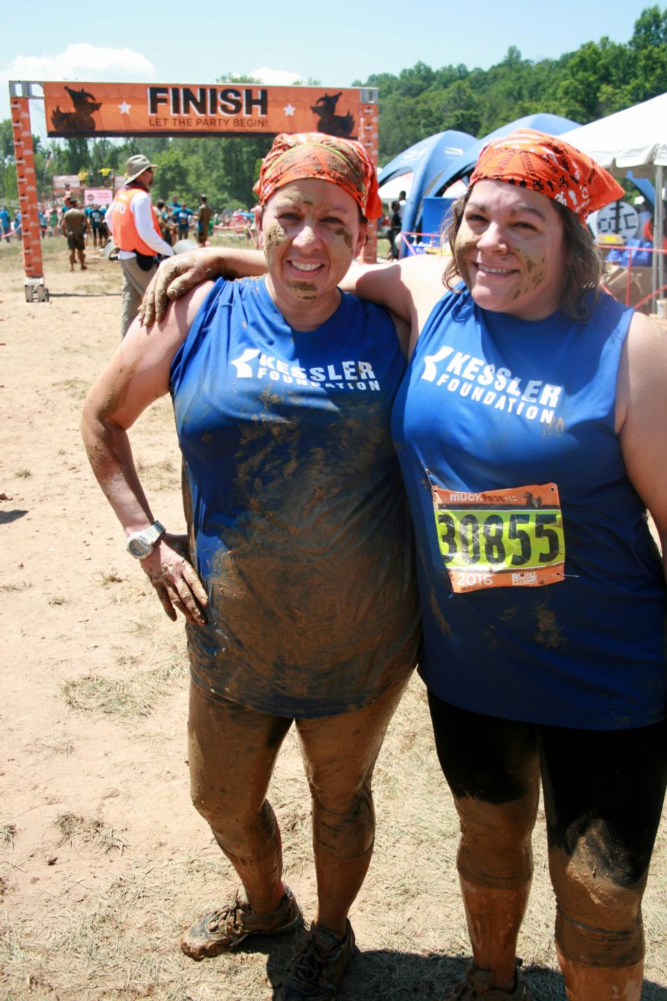 Employees Cherie Giraud and Lauren Strober at the MuckFest, an event benefitting the National Multiple Sclerosis Society - June 2016.