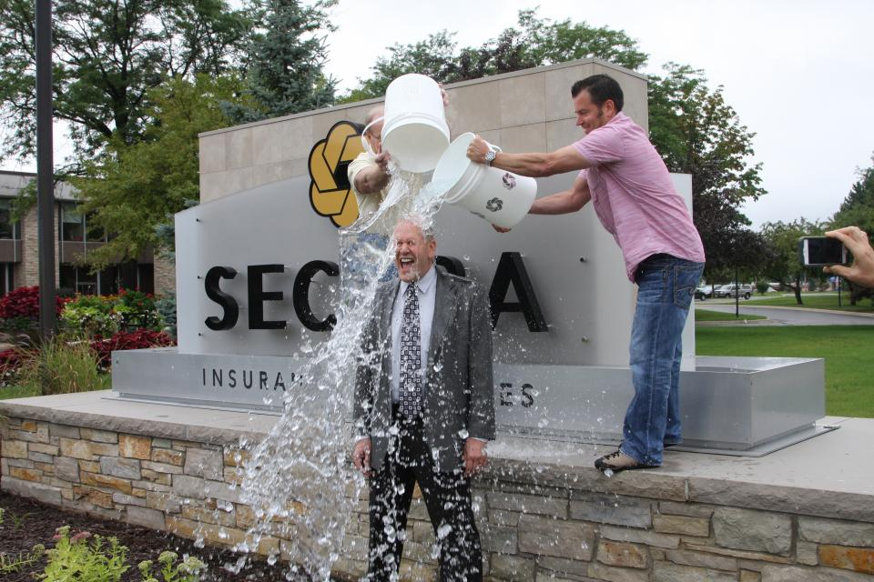 SECURA's CEO & President promotes the ALS Ice Bucket Challenge.