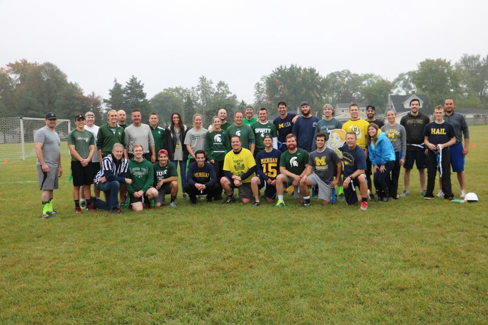 UM vs MSU Flag football game