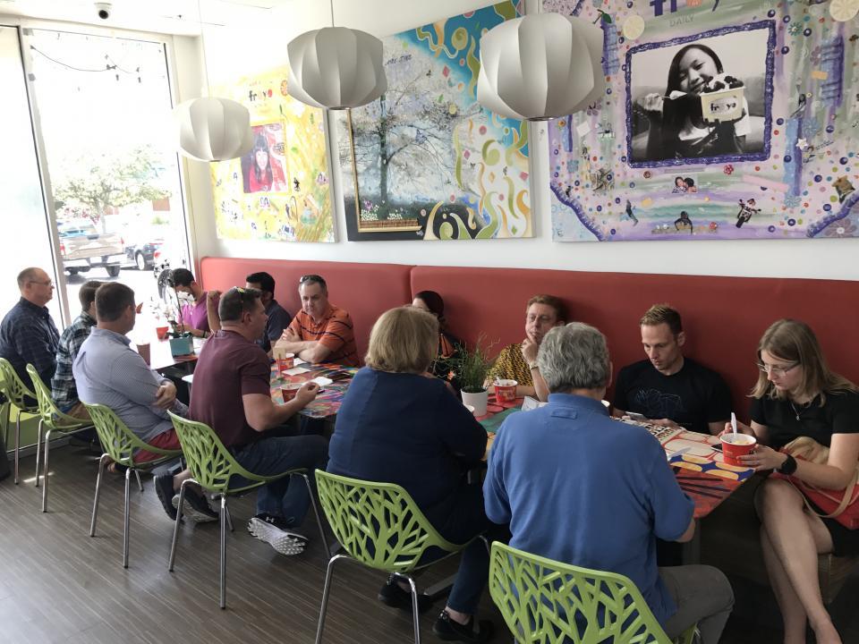 Tampa Team Members Enjoying an Outing for Frozen Yogurt