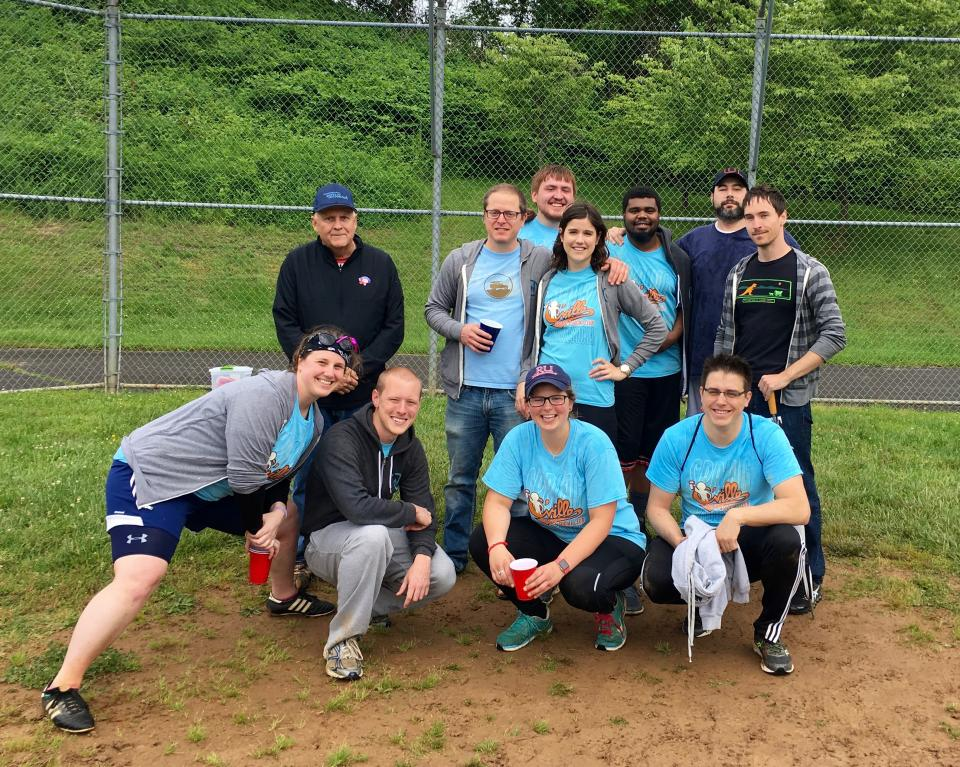 WillowTree's company kickball team, 'The Whomping WillowTrees.'