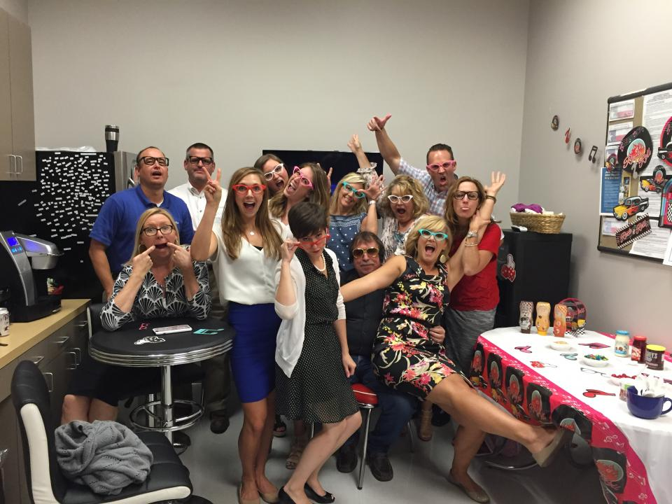 I scream, you scream, we all scream for ice cream! During our National Ice Cream Day celebration, Graniteers transformed the breakroom into a 50's style diner. Can you spot our very own