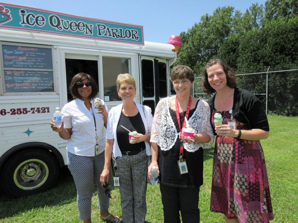 Company-wide celebrations include sweet treats in honor of National Ice Cream Month.