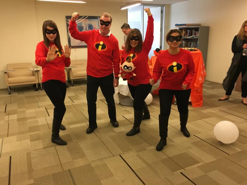 The Meetings and Events team takes another prize in the annual costume contest on Halloween.