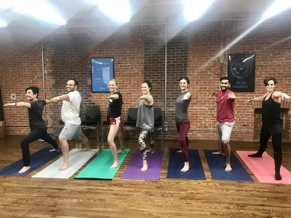 Office yoga!