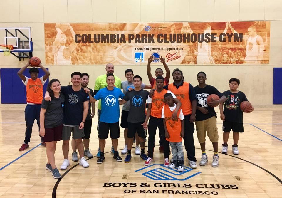 Volunteering at the local Boys & Girls Club for Muleys Give Back, our global month of service!