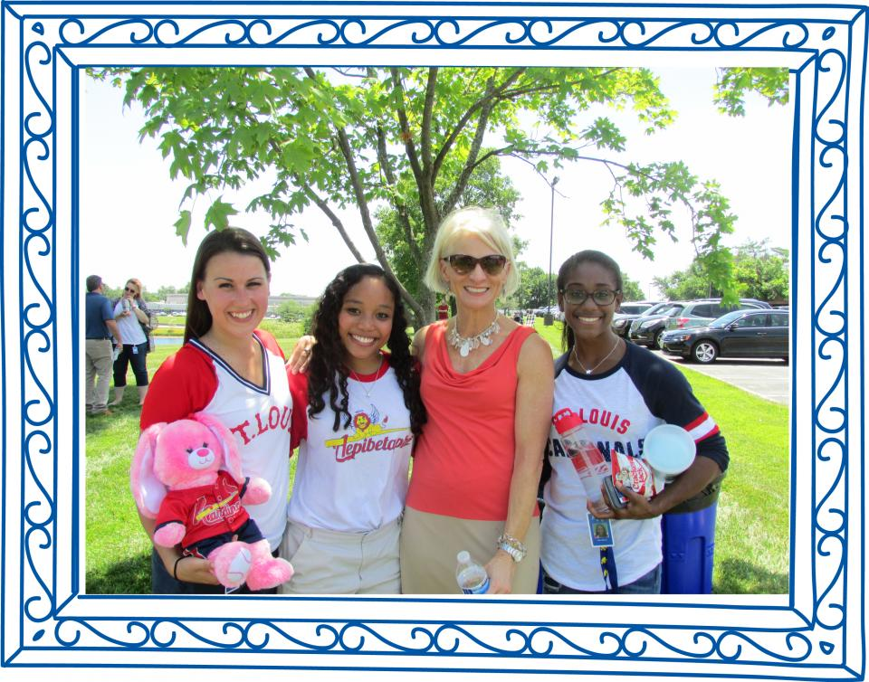 Sharon John (CEO) with Interns at the Annual Summer Picnic