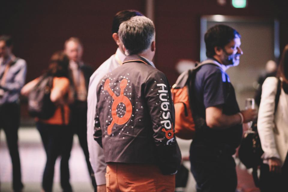 There is no dress code at HubSpot, meaning employees can wear whatever they're most comfortable working in. Here, not to be outdone, HubSpot President & COO JD Sherman sports a bedazzled HubSpot jean jacket.