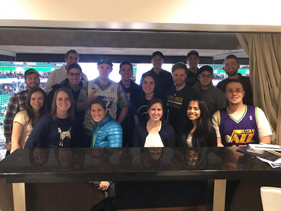 Employees Attend The Jazz Game