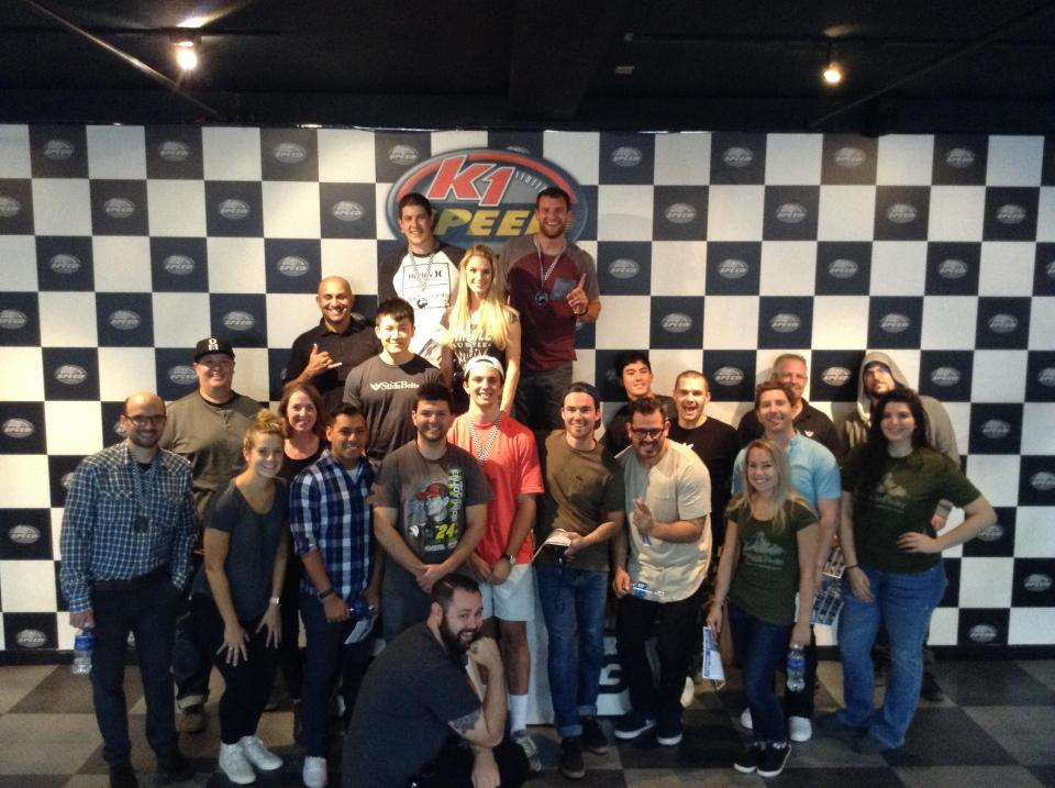 We take regular company outings to get out of the office and do something fun, like K1 go kart racing!