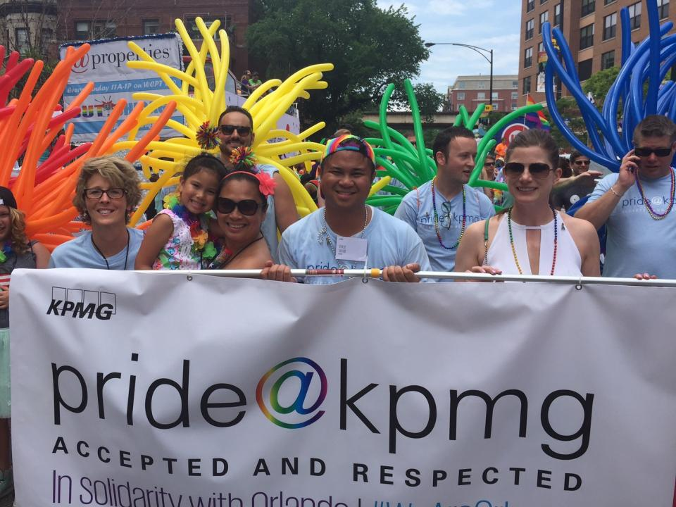 Members of the firm's pride@kpmg network