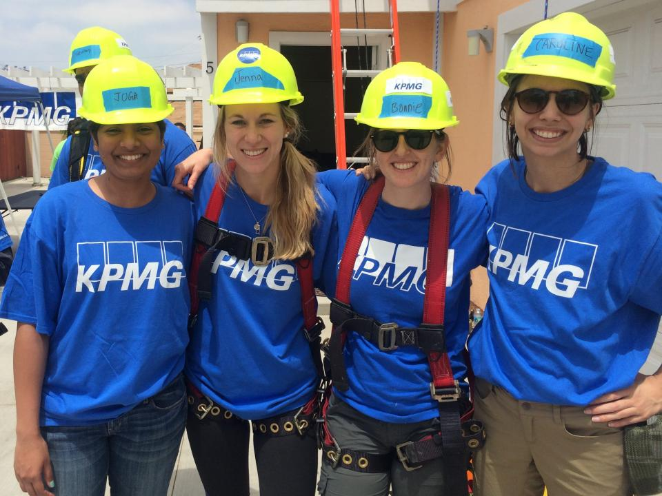 KPMGers participating in a Living Green volunteering event.