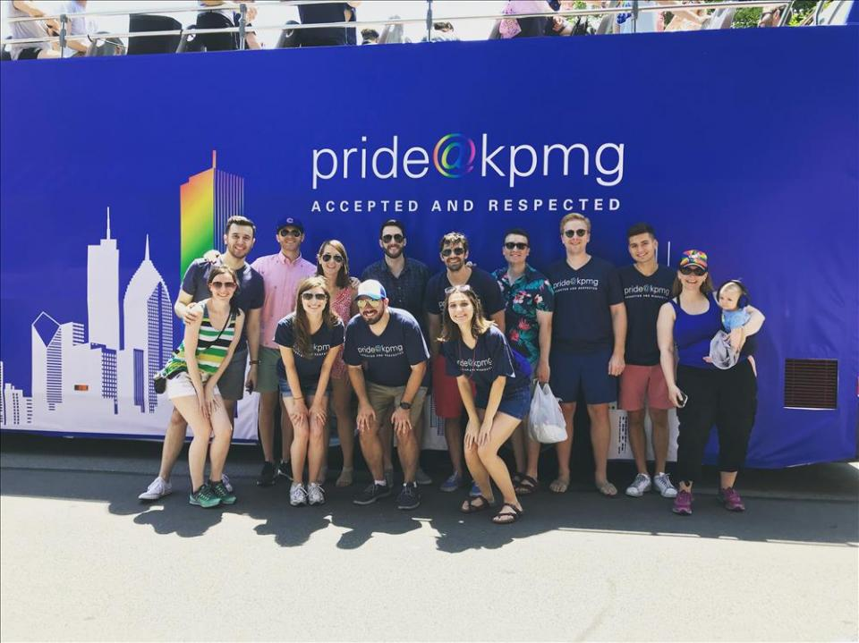 Members of the firm's pride@kpmg network in Chicago.