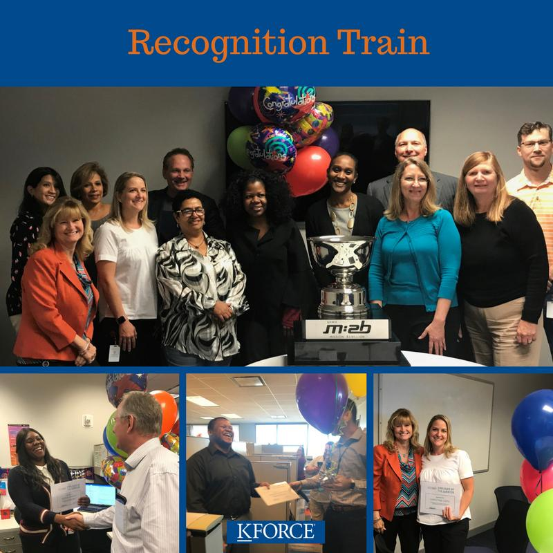 Recognizing our employee and teams of the quarter with our Recognition Train