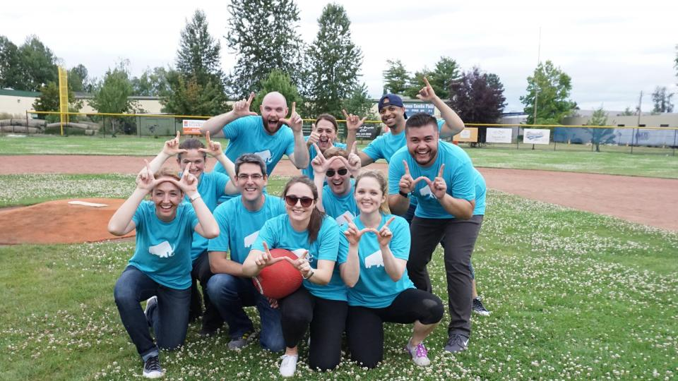 Company Kickball Game at Our Summer Offsite