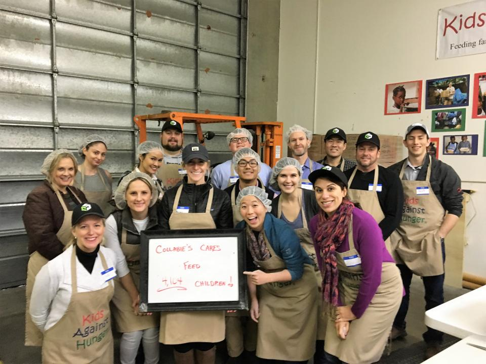 Our Northern California office teamed with Kids Against Hunger Bay Area to assemble over 4,000 meals to feed families around the world.