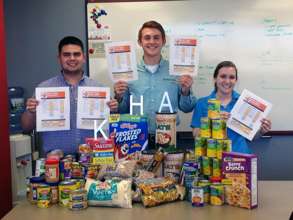 Kimley-Horn collected ten tons of food in an office wide