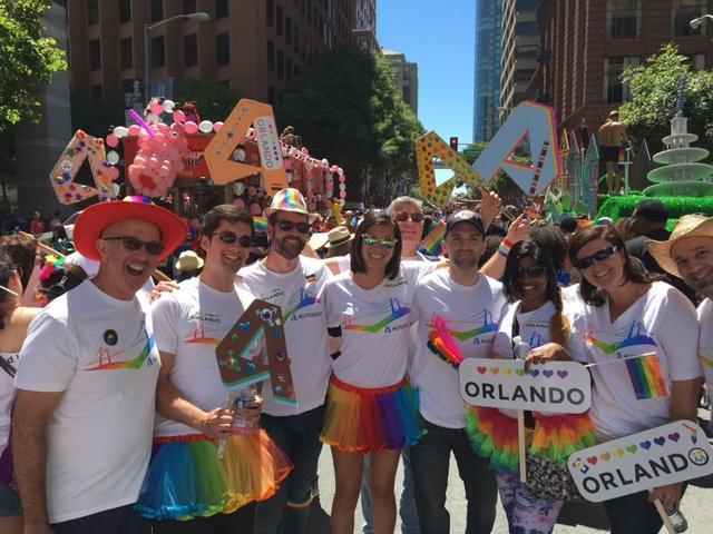 Autodesk representing at Pride