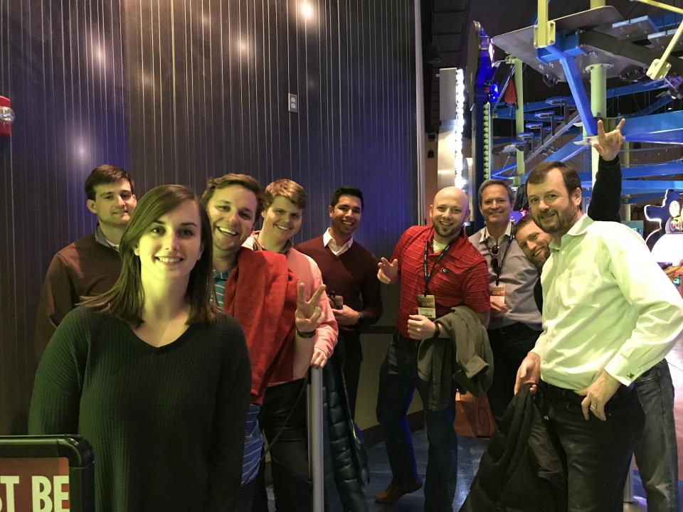 Atlanta employees enjoy laser tag as part of their Annual Meeting event.